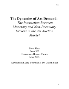 The Dynamics of Art Demand: The Interaction Between Monetary and Non-Pecuniary