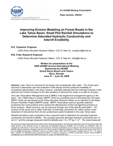 Improving Erosion Modeling on Forest Roads in the