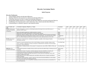 Diversity Curriculum Matrix