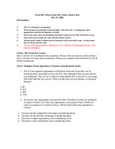 Econ 001: Final Exam (Dr. Stein) Answer Key Dec 19, 2006 Instructions: •