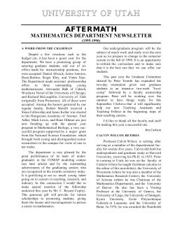 university of utah graduate thesis handbook
