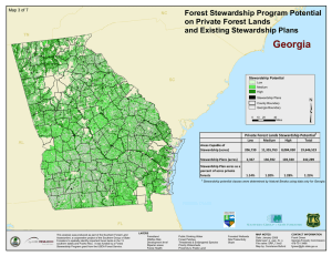 ³ Georgia Forest Stewardship Program Potential on Private Forest Lands