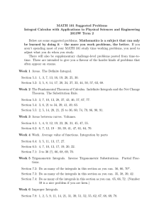 MATH 101 Suggested Problems 2013W Term 2