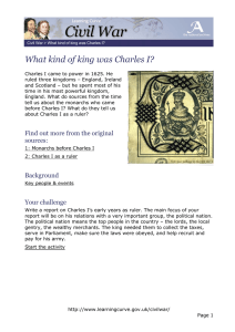 What kind of king was Charles I?