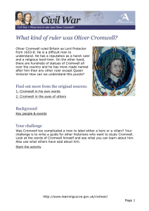 What kind of ruler was Oliver Cromwell?