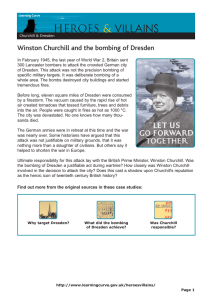 VILLAINS HEROES & Winston Churchill and the bombing of Dresden