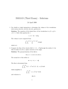 SM311O (Third Exam) { Solutions