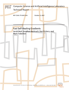 Fast Self-Healing Gradients Computer Science and Artificial Intelligence Laboratory Technical Report