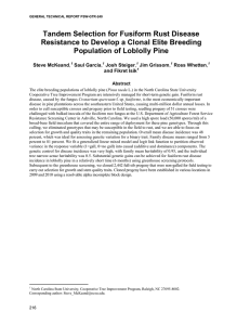 Tandem Selection for Fusiform Rust Disease Population of Loblolly Pine
