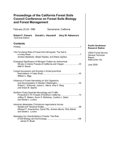 Proceedings of the California Forest Soils and Forest Management