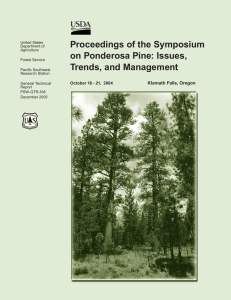 Proceedings of the Symposium on Ponderosa Pine: Issues, Trends, and Management