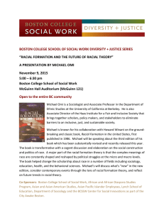 BOSTON COLLEGE SCHOOL OF SOCIAL WORK DIVERSITY + JUSTICE SERIES