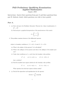 PhD Preliminary Qualifying Examination: Applied Mathematics