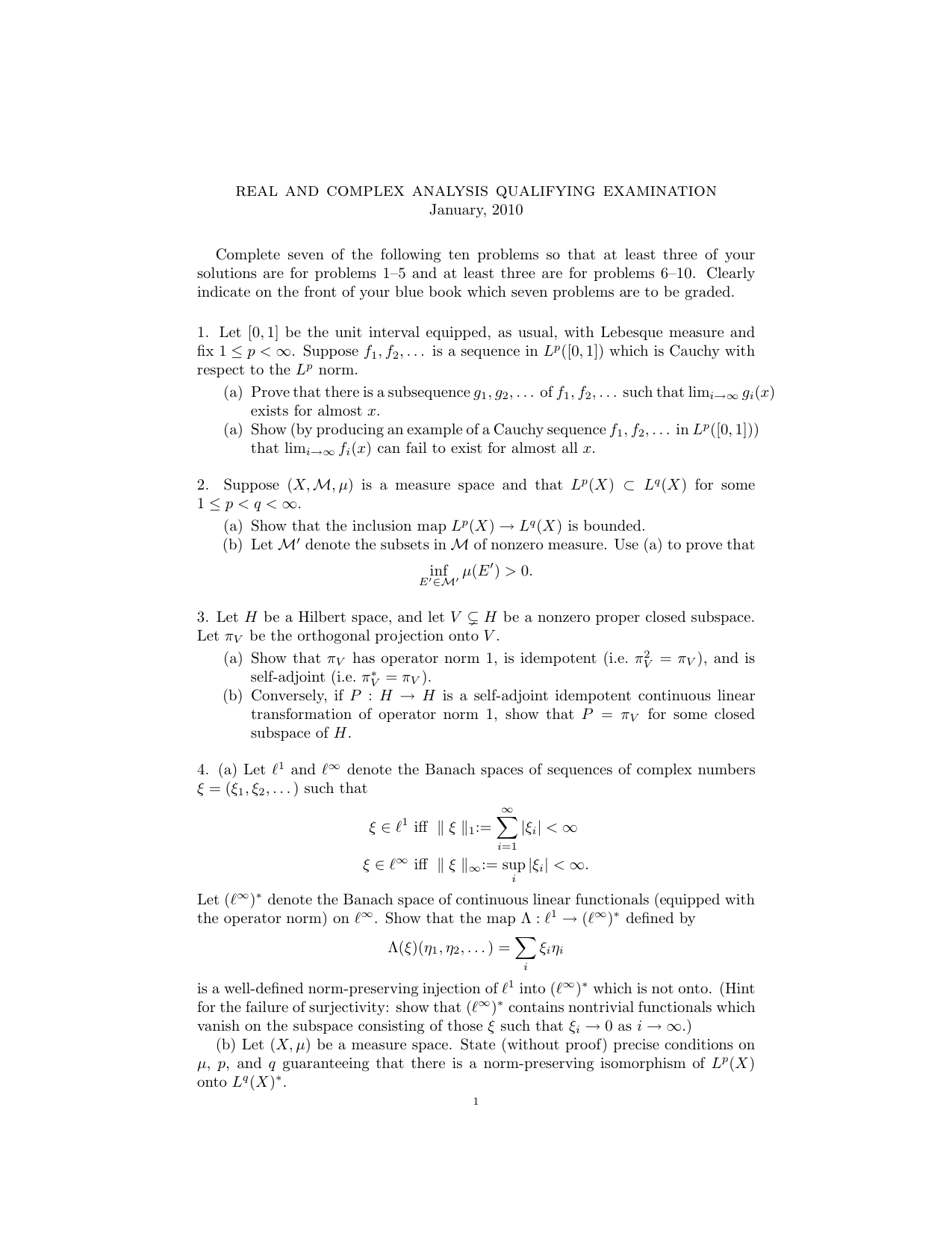 real and complex analysis qualifying examination