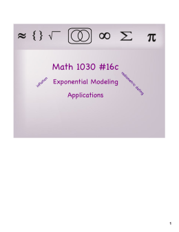 Math 1030 #16c Exponential Modeling Applications rad