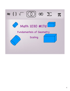 Math 1030 #17d Fundamentals of Geometry Scaling 1