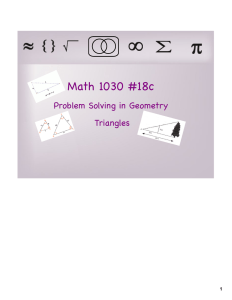 Math 1030 #18c Problem Solving in Geometry Triangles 1
