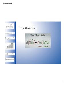The Chain Rule 12B Chain Rule 1