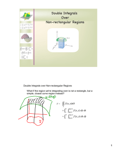 Double Integrals Over Non-rectangular Regions