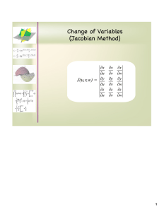 Change of Variables (Jacobian Method) J(u,v,w) = 1