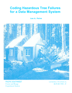 Coding Hazardous Tree Failures for a Data Management System PACIFIC SOUTHWEST