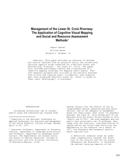 Management of the Lower St. Croix Riverway: