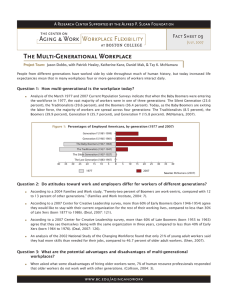 The Multi-Generational Workplace Fact Sheet 09 July, 2007