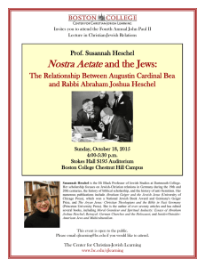 Nostra Aetate and the Jews:  The Relationship Between Augustin Cardinal Bea