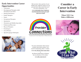 Early Intervention Career Consider a Opportunities Career in Early