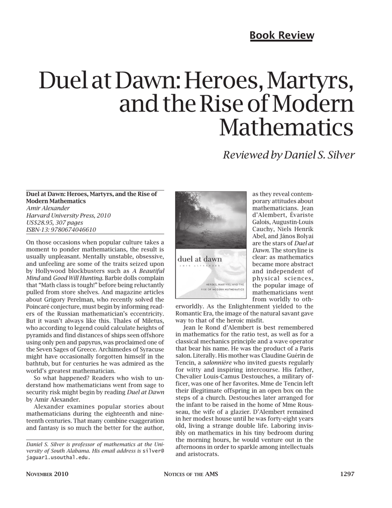 Duel at Dawn: Heroes, Martyrs, and the Rise of Modern