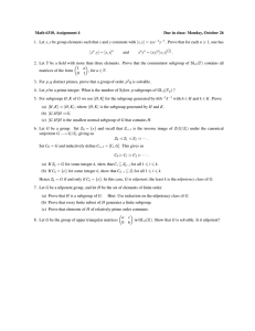 Math 6310, Assignment 4 Due in class: Monday, October 26
