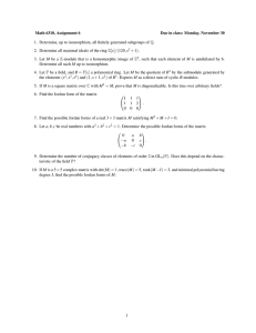 Math 6310, Assignment 6 Due in class: Monday, November 30
