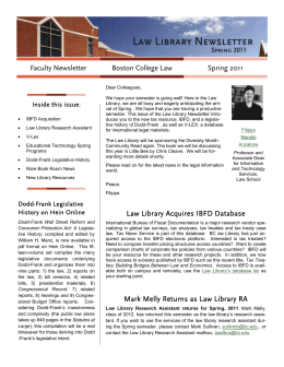 Boston College Law Faculty Newsletter Spring 2011