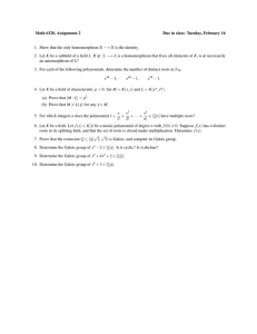 Math 6320, Assignment 2 Due in class: Tuesday, February 16