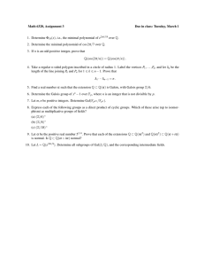 Math 6320, Assignment 3 Due in class: Tuesday, March 1
