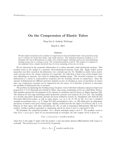 On the Compression of Elastic Tubes Feng Liu & Andrejs Treibergs 1