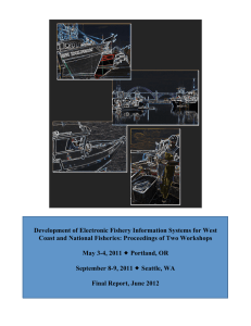 Development of Electronic Fishery Information Systems for West
