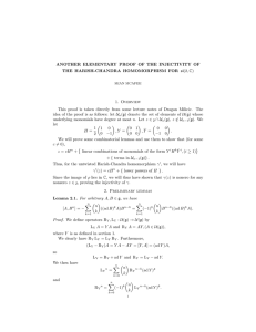 ANOTHER ELEMENTARY PROOF OF THE INJECTIVITY OF 1. Overview