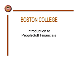 Introduction to PeopleSoft Financials