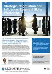 Strategic Negotiation and Influence: Essential Skills Workshop