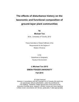 The effects of disturbance history on the ground-layer plant communities