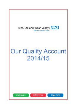 Our Quality Account 2014/15