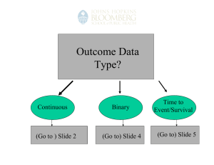 Outcome Data Type? Time to Continuous