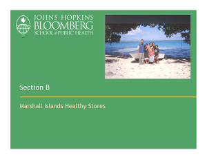 Section B Marshall Islands Healthy Stores