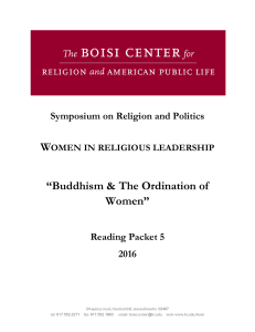 "W  ""Buddhism & The Ordination of Women"""