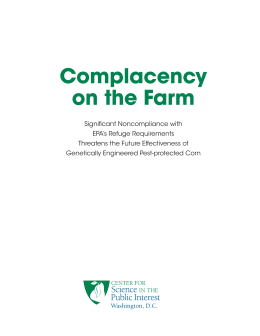 Complacency on the Farm