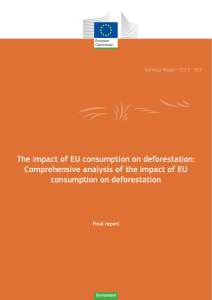 The impact of EU consumption on deforestation: consumption on deforestation