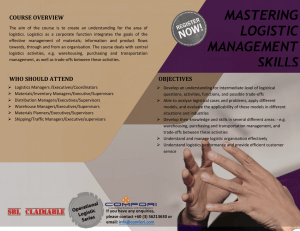 MASTERING LOGISTIC