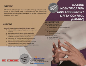 HAZARD INDENTIFICATION RISK ASSESSMENT