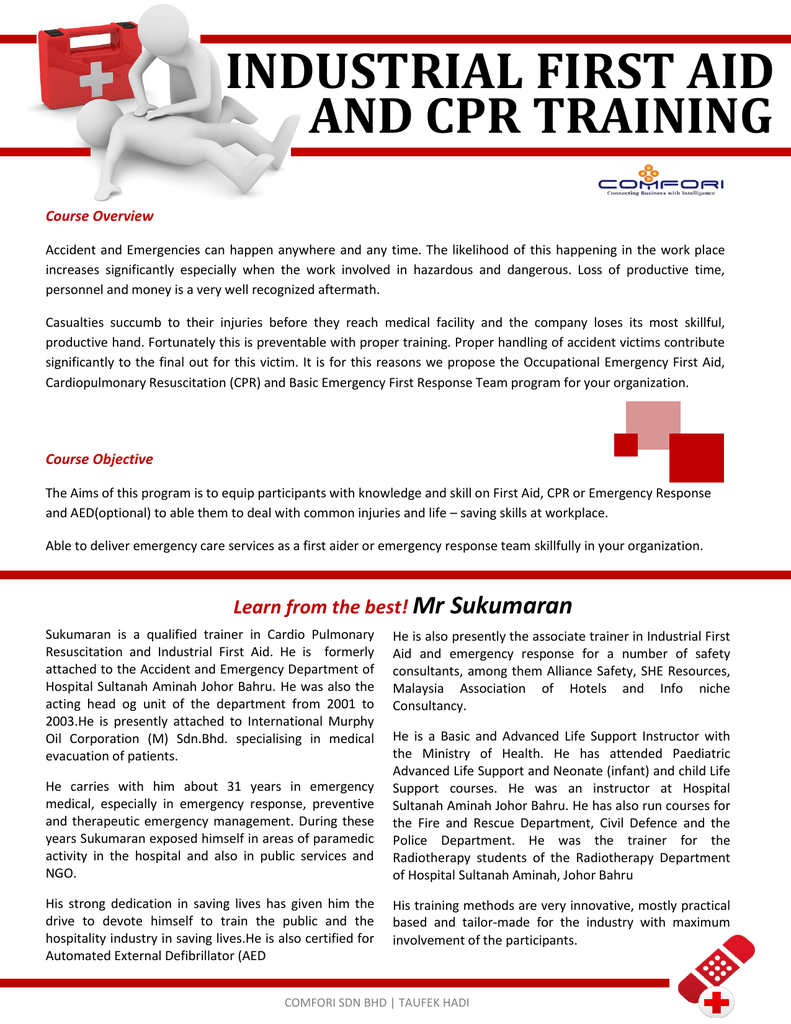 Industrial First Aid And Cpr Training